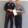 Receiving Brown Belt